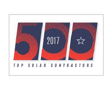 top solar contractor award badge