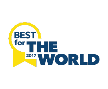 B Corp best for the world award badge