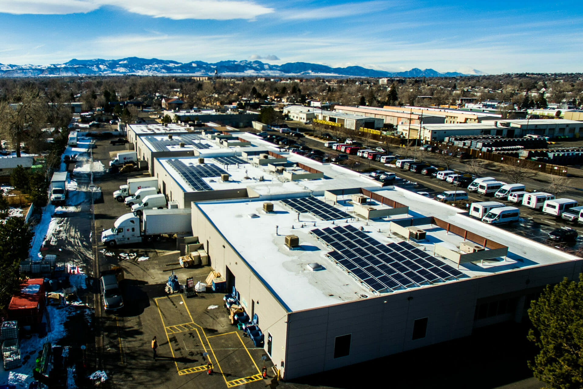 commercial solar installation in arvada colorado rooftop
