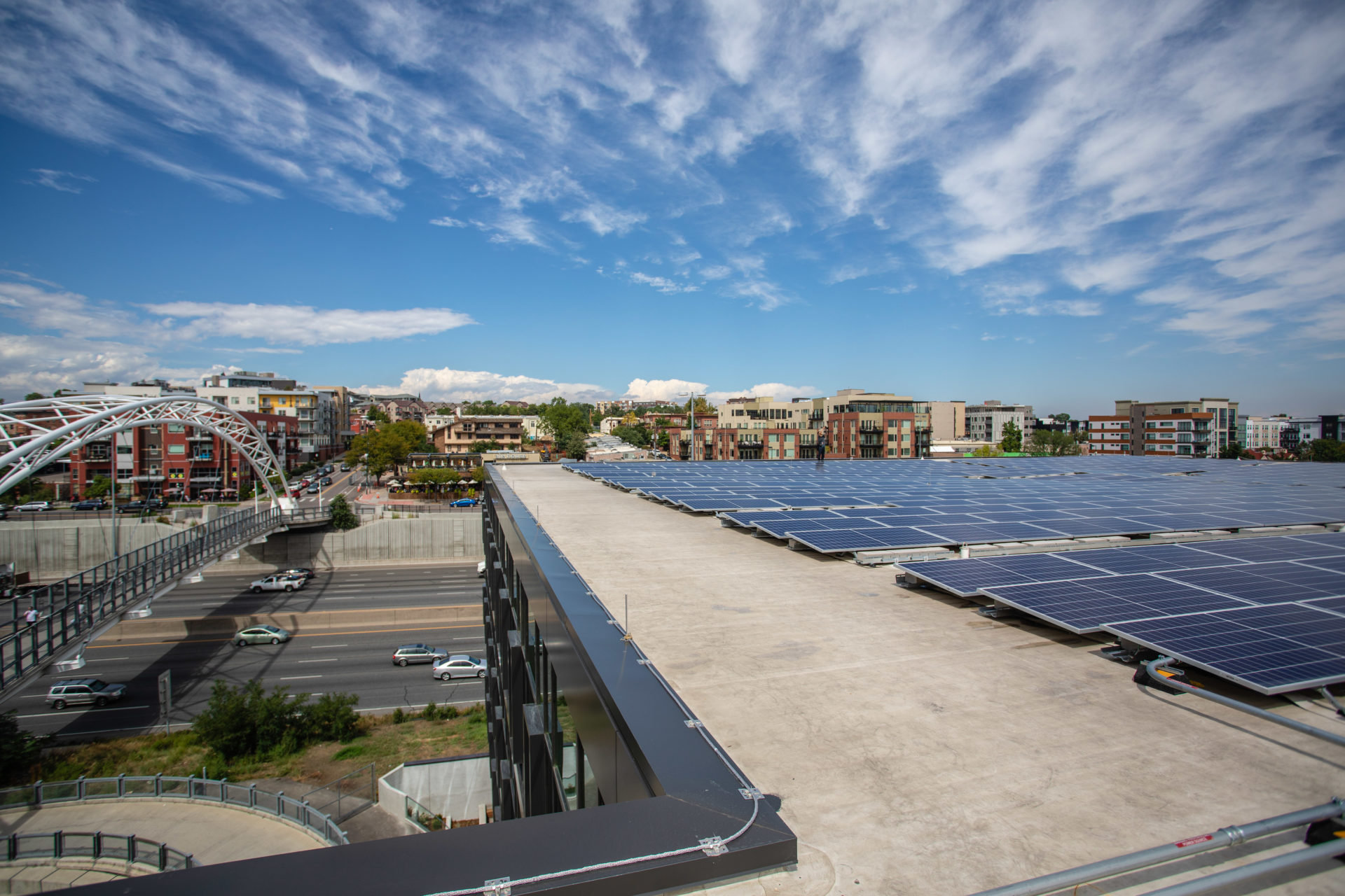 solar panels on denver rooftop