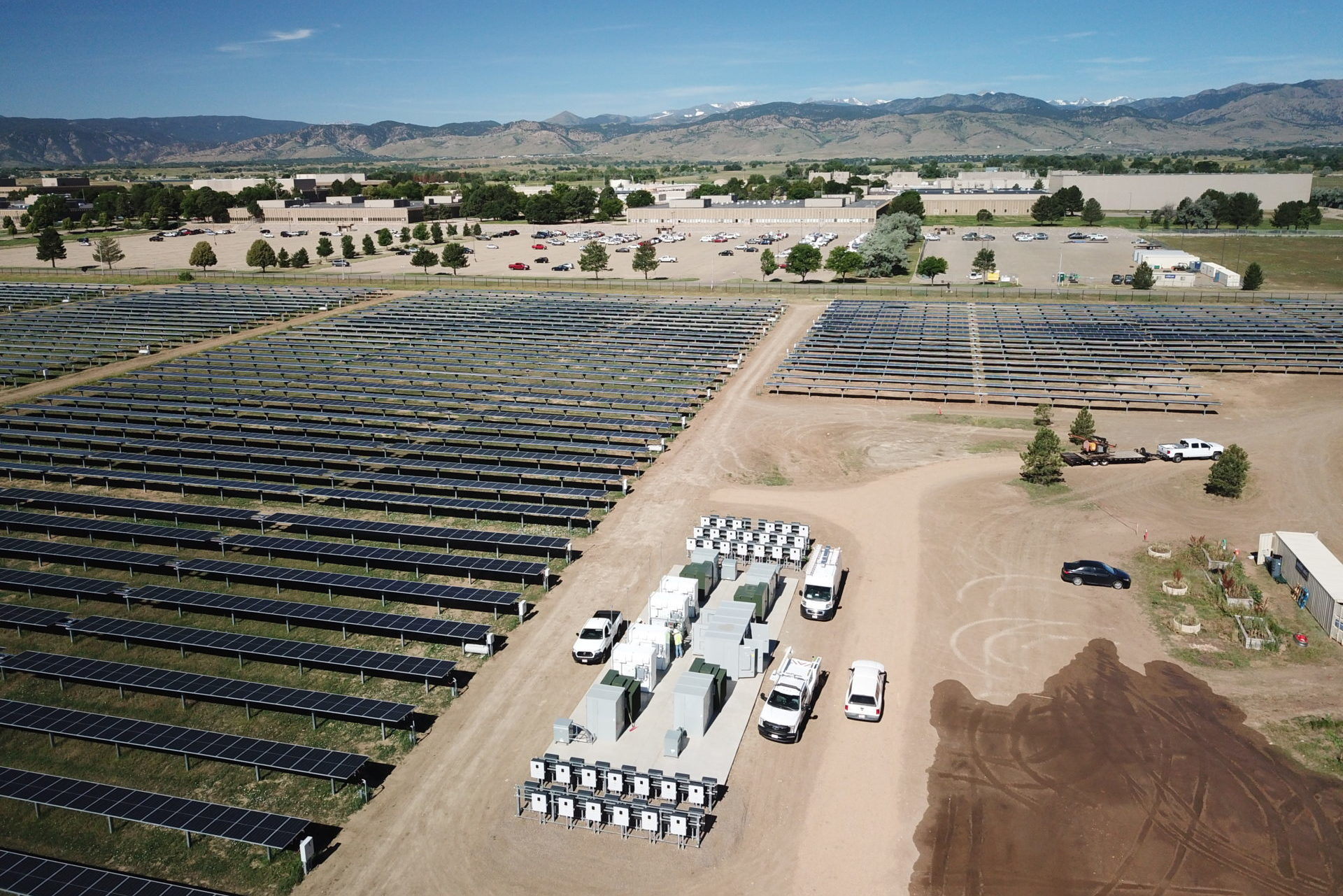 commercial ground-mounted solar array in boulder